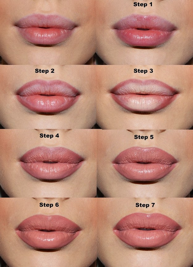 Or, make use of your concealer and lip liner to make your lips look fuller.