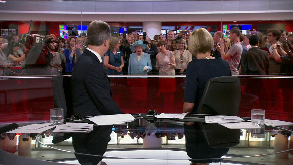 9) The Queen photobombs BBC News.