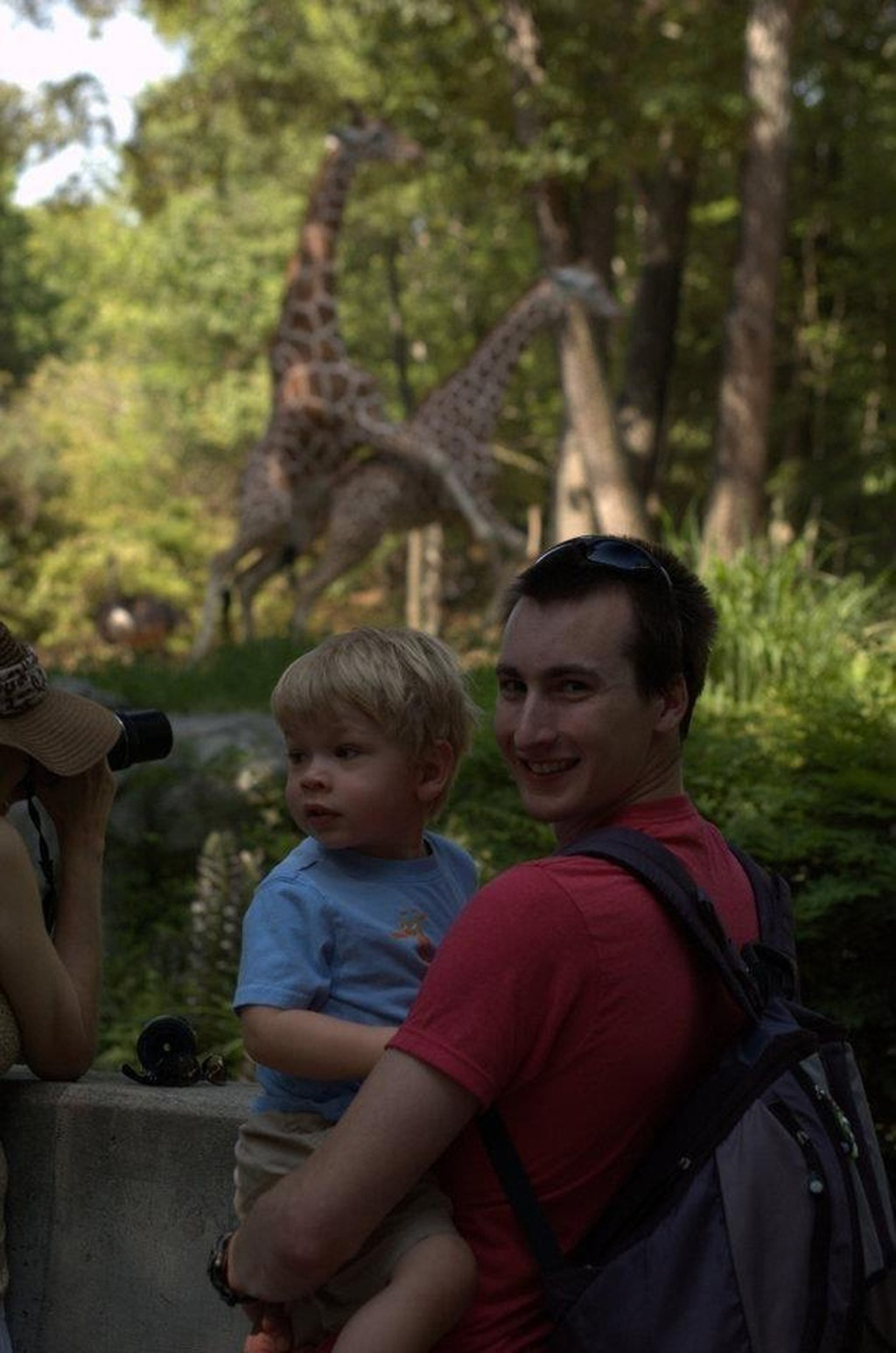 20) These giraffes love the art of photobombing...and the art of love.