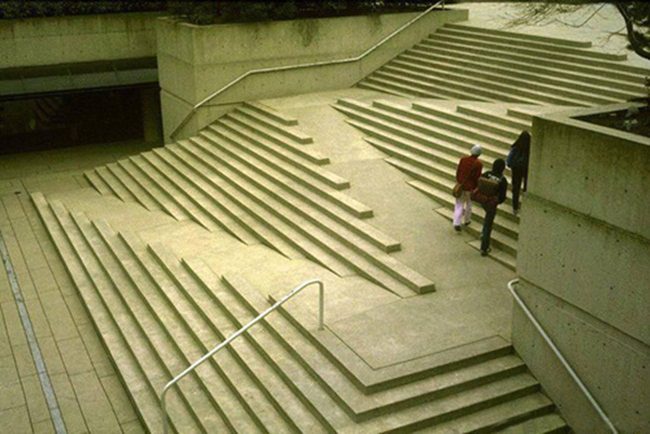 1.) This wheelchair accessible set of stairs.