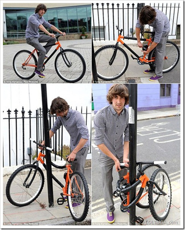 11.) This self-locking bike that saves you from carrying bulky standard locks.