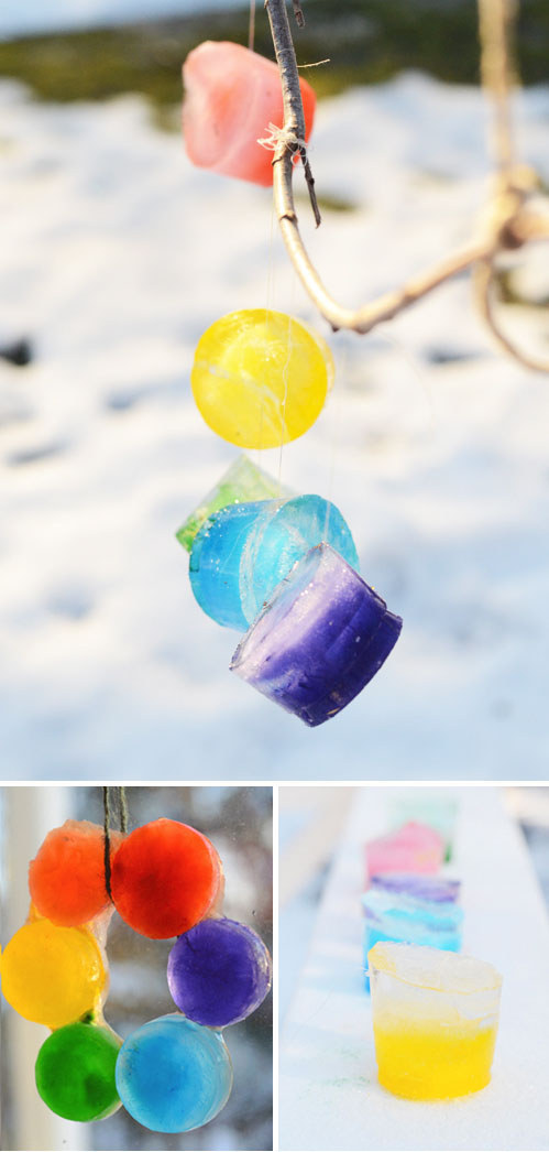 Create these stunning ice ornaments.