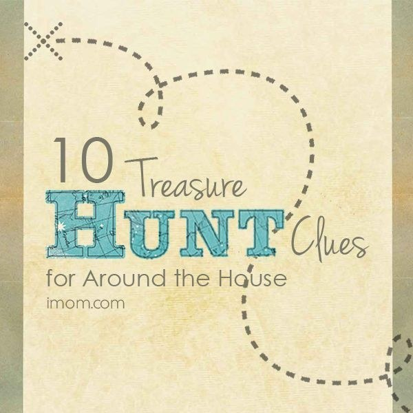 Buy yourself some quiet time by setting up an indoor scavenger hunt.