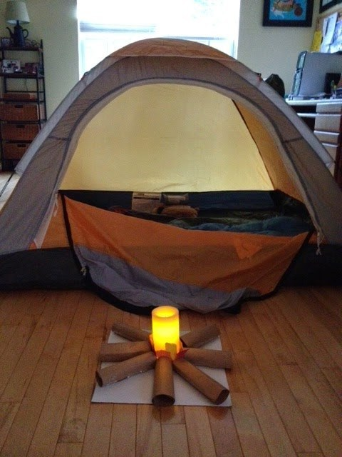 Another great power outage hack: Retain heat and resources by camping in!
