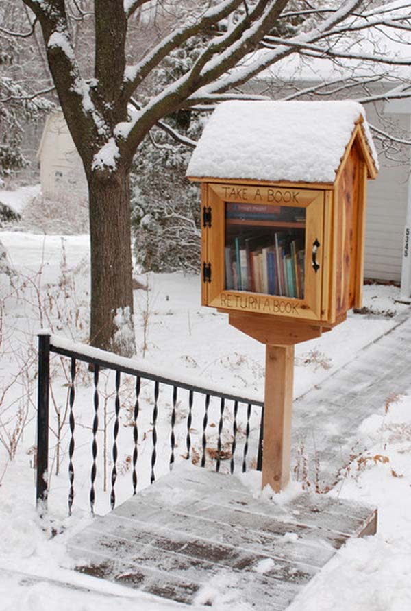 3.) Build a free library for your neighbors.
