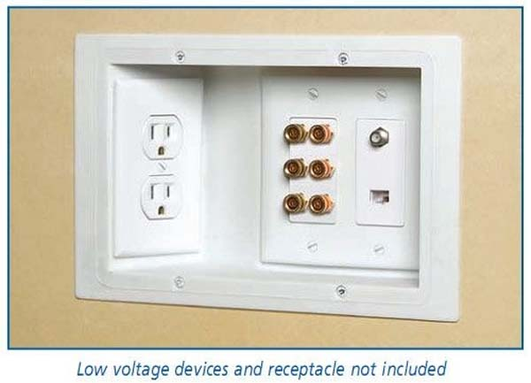 15.) Use recessed outlets so you can put your furniture against the wall.