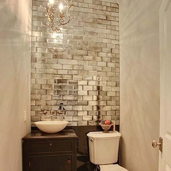 31.) Add mirrored tiles to windowless rooms.