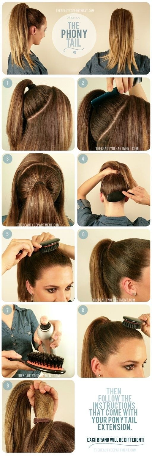 Get Ariana Grande-level ponytail fullness with a ponytail extension.