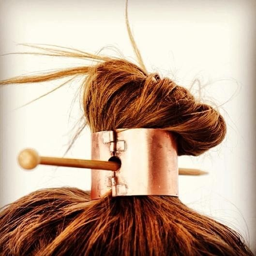 And if you really don't have enough hair for a ponytail? Stick it in a ponytail cuff.