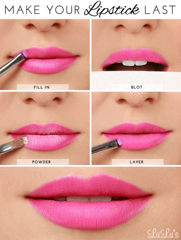 Use this powder trick to make your lipstick last forever (or at least until you want to take it off at night).