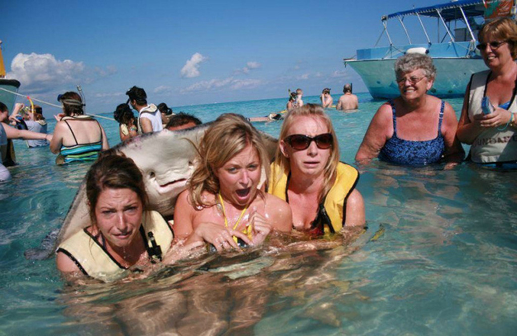 25) And of course there would be no photobomb list without the stingray photobomb that changed the world.