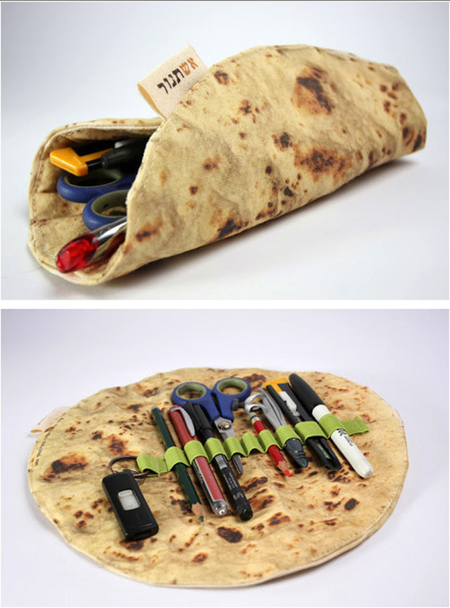 This cute way to roll up your school supplies pita buzztaboo