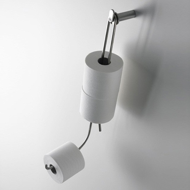 3.) This handy toilet paper holder.