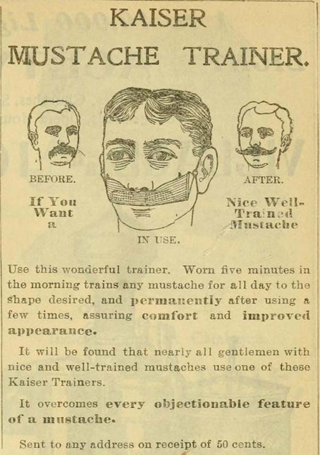 2.) The Mustache Trainer.