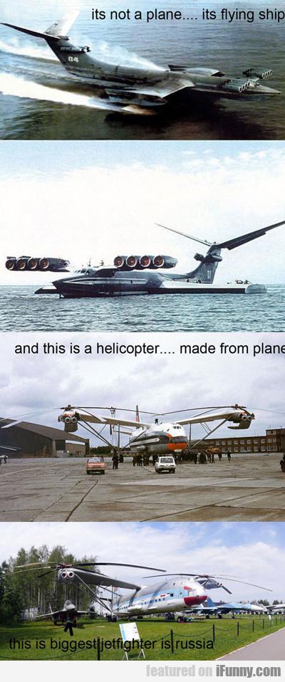 It's Not A Plane, It's A Flying Ship...