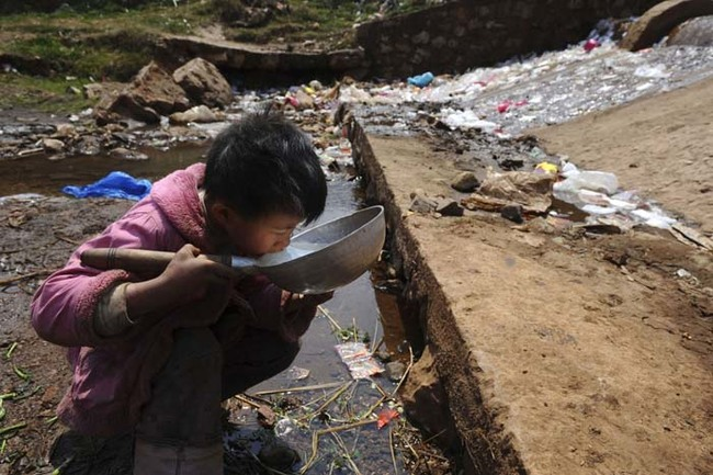 In Wenzhou, China, it's especially bad. The growth of industries have destroyed the water supply.